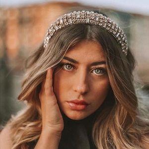 NWT Zara Bejeweled Padded Headband